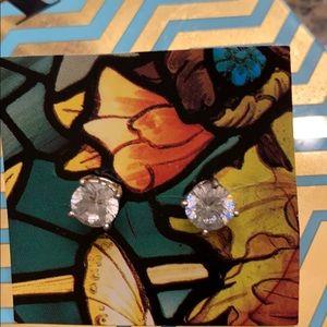 1 Carat Diamonique Stud Earrings*Sterling Silver